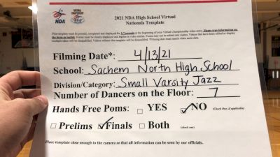 Sachem North High School [Virtual Small Varsity - Jazz Finals] 2021 NDA National Championship