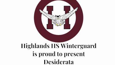 Highlands HS - Desiderata