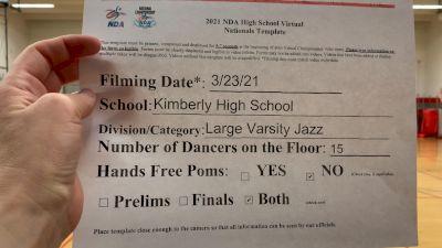 Kimberly High School [Virtual Large Varsity - Jazz Finals] 2021 NDA National Championship