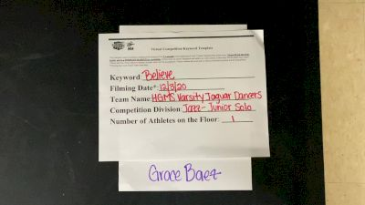 Hialeah Gardens Middle School Grace B. [Junior - Solo] 2020 NDA December Virtual Championship