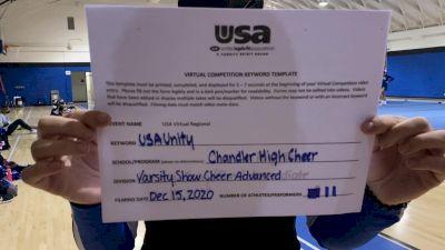 Chandler High School [Varsity Show Cheer Advanced] 2020USA Virtual Regional