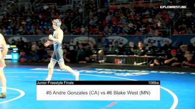 106 lbs Final - Andre Gonzales, California vs Blake West, Minnesota full