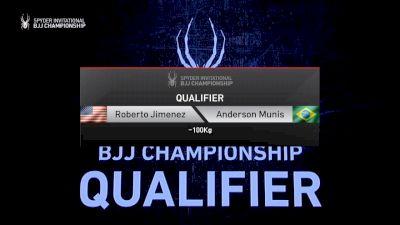 Roberto Jimenez vs Anderson Munis 2019 Spyder BJJ Qualifier