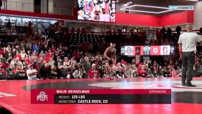 125lbs Match: Malik Heinselman, Ohio State vs Jackson DiSario, Stanford