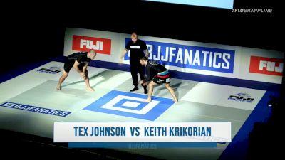Aaron Tex Johnson vs Keith Krikorian BJJ Fanatics Submission Only Grand Prix