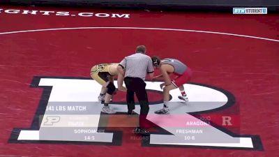 141 lbs Parker Filius, Purdue vs Joe Aragona, Rutgers