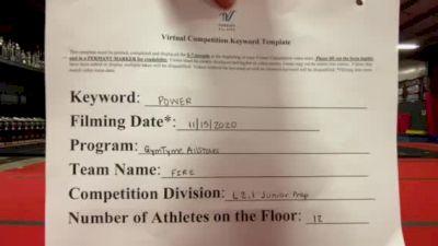 Gym Tyme - Fire [L2.1 Junior - PREP] Varsity All Star Virtual Competition Series: Event V