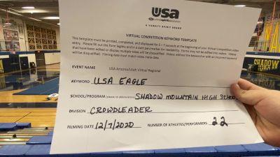 Shadow Mountain High School [Crowdleader Teams] 2020 USA Arizona & Utah Virtual Regional
