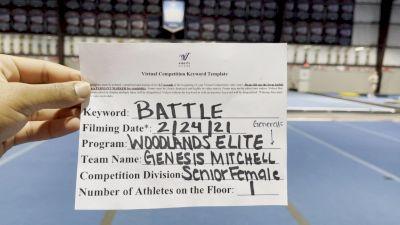 Woodlands Elite - Genesis_Mitchell - Finals [Senior Female] 2021 Battle In The Arena