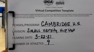 Cambridge High School [Varsity - Hip Hop] 2021 UCA & UDA March Virtual Challenge