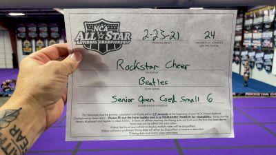 Rockstar Cheer - Beatles [L6 Senior Coed Open - Small] 2021 NCA All-Star Virtual National Championship