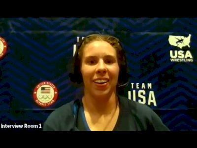 Abby Nette (57 kg) after true third match at 2021 Olympic Trials
