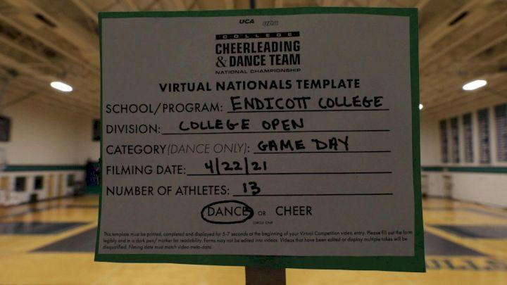Endicott College [Virtual Open Dance Game Day Finals] 2021 UCA & UDA College Cheerleading & Dance Team National Championship