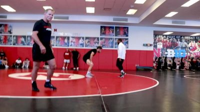 Mike Mal Talks With Mark Manning As Jordan Burroughs Works Out