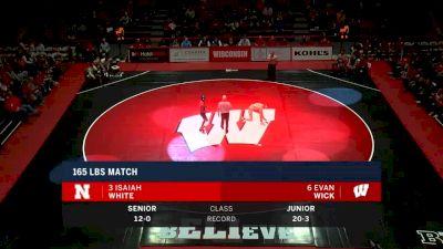 165lbs Match: Evan Wick, Wisconsin vs Isaiah White, Nebraska