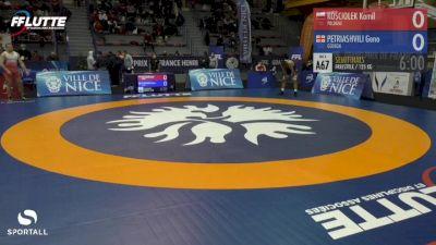 125 kg Semifinals - Geno Petriashvili, Georgia vs Kamil Kosciolek, Poland