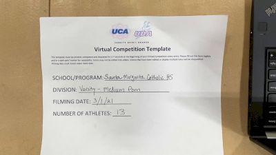 Santa Margarita Catholic High School [Medium Varsity Pom] 2021 UDA West Spring Virtual Dance Challenge