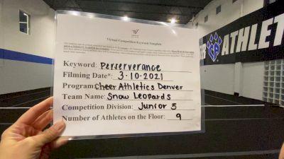 Cheer Athletics - Denver - Snow Leopards [L5 Junior] 2021 USA All Star Virtual Championships