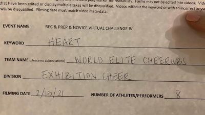 World Elite - Cheerubs [Exhibition (Cheer)] 2021 Varsity Rec, Prep & Novice Virtual Challenge IV