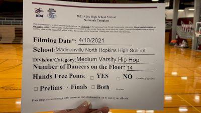 Madisonville North Hopkins High School [Virtual Medium Varsity - Hip Hop Finals] 2021 NDA High School National Championship