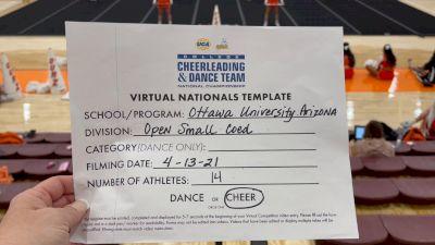 Ottawa University Arizona [Virtual Open Small Coed Finals] 2021 UCA & UDA College Cheerleading & Dance Team National Championship