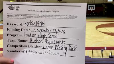 Hudson High School [Large Varsity Kick] 2020 NDA November Virtual Championship