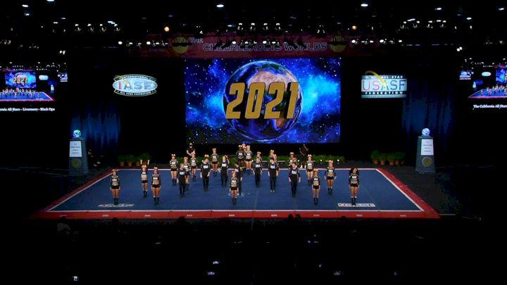 The California All Stars - Livermore - Black Ops [2021 L6 Senior Medium Coed Finals] 2021 The Cheerleading Worlds