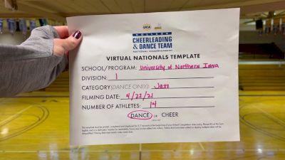University of Northern Iowa [Virtual Division I Jazz Finals] 2021 UCA & UDA College Cheerleading & Dance Team National Championship
