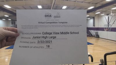 College View Middle School [Large JH] 2021 UCA February Virtual Challenge