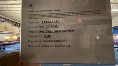 New Jersey Spirit Explosion - FAB5 [L6 Senior - Small] 2021 Spirit Festival Virtual Nationals