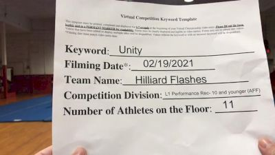 Hilliard Youth Cheerleading - Hilliard Flashes [L1 Performance Recreation - 10 and Younger (AFF)] 2021 Varsity Rec, Prep & Novice Virtual Challenge IV