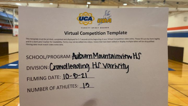 Auburn Mountainview High School [Varsity - Crowd Leading] 2021 UCA & UDA Game Day Kick-Off