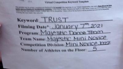 Majestic Dance Team [Mini - NOVICE - Dance] 2021 NCA & NDA Virtual January Championship