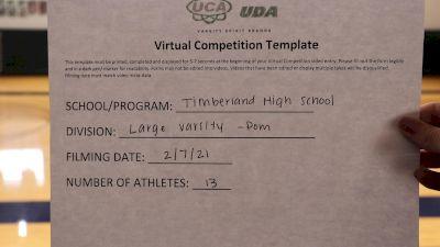Timberland High School [Large Varsity Pom] 2021 UDA Spirit of the Midwest Virtual Challenge