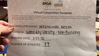 Westerville North High School [Game Day Varsity Non-Building] 2021 UCA January Virtual Challenge
