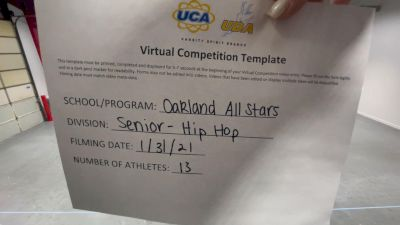 Oakland All Stars [Senior - Hip Hop] 2021 UDA Spirit of the Midwest Virtual Challenge