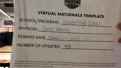 Hoover High School [Virtual Super Varsity Semi Finals] 2021 UCA National High School Cheerleading Championship