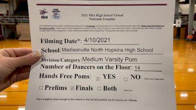 Madisonville North Hopkins High School [Medium Varsity - Pom Virtual Finals] 2021 NDA High School National Championship