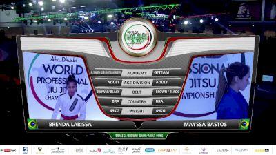 Brenda Larissa vs Mayssa Bastos 2020 Abu Dhabi World Pro