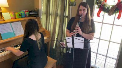 Orange Clarinet Piano Duet - Andante