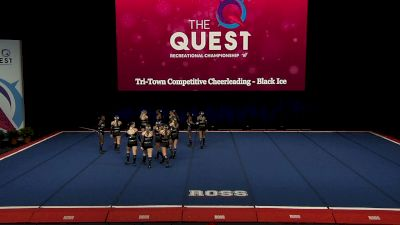 Tri-Town Competitive Cheerleading - Black Ice [2021 L4 Performance Rec - 8-18 Years (NON) Finals] 2021 The Quest