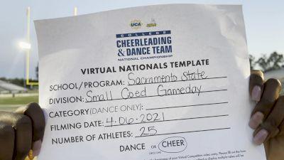 Sacramento State [Virtual Small Coed Game Day - Cheer Semi Finals] 2021 UCA & UDA College Cheerleading & Dance Team National Championship