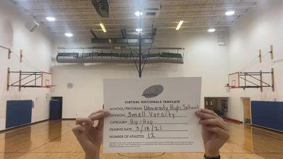 University High School [Virtual Small Varsity - Hip Hop Finals] 2021 UDA National Dance Team Championship