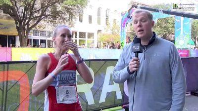 Heather Leighburgh, women's Austin Marathon winner talks about her victory