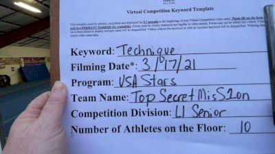 USA Stars - top secret misS1on [L1 Senior] 2021 Varsity All Star Winter Virtual Competition Series: Event IV