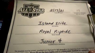 Island Elite - Royal RipTide [L4 Junior - D2 - Small - A] 2021 NCA All-Star Virtual National Championship