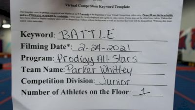 Prodigy All-Stars - Parker_Whitley - Finals [Junior Athlete] 2021 Battle In The Arena