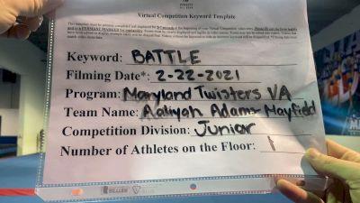 Maryland Twisters - Aaliyah_AdamsMayfield - Finals [Junior Athlete] 2021 Battle In The Arena
