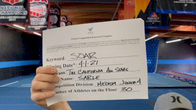 The California All Stars - Sable [L4 Junior] 2021 The Regional Summit Virtual Championships
