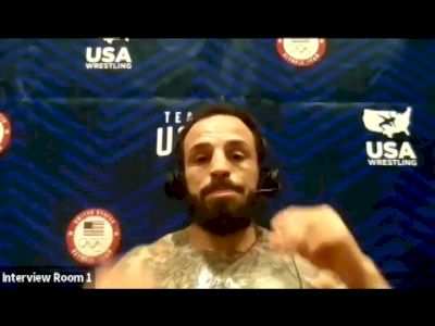 Jordan Oliver (65 kg) after winning the 2021 Olympic Trials